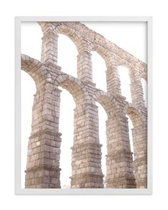 """Aqueduct in the late morning"" - Art Print by Sharon Rowan in beautiful frame options and a variety of sizes."