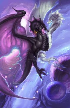 Inspiration for Obsidian/Opal dragon