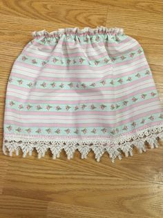 Baby girl 6-12 months shabby chic floral skirt by LilThyngCrafts