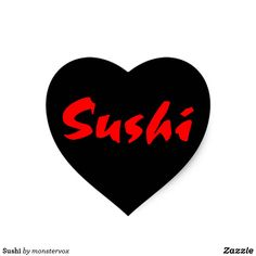 Sushi Heart Sticker #Sushi #Fish #Japanese #Asia #Asian #Love #Heart #Sticker