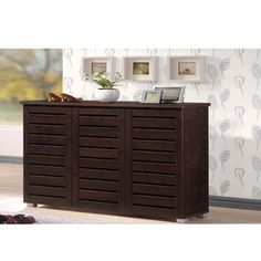 Shop for Baxton Studio Redman Contemporary 3-door Dark Brown Shoe Cabinet. Get free shipping at Overstock.com - Your Online Furniture Outlet Store! Get 5% in rewards with Club O!