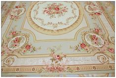 8X10 PASTEL BLUE IVORY PINK Aubusson Area Rug FREE SHIP! French Shabby Rose Chic Housewares home decor