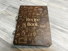 Free Personalized recipe book. This personalized Recipe Book will make a perfect hostess gift for a friend who loves to cook. This wooden recipe journal could be a housewarming gift for new homeowners or newly weds, as well as a gift for your best friends hen party. It is also perfect gift for your mother for Mothers Day. And it is great gift for her, birthday gift, Christmas gift, Valentines Day gift, gift for wife, gift for bride, gift for mom, gift for sister, bridesmaid gift, gift for…