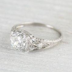 Image of 1.95 Carat Art Deco Engagement Ring