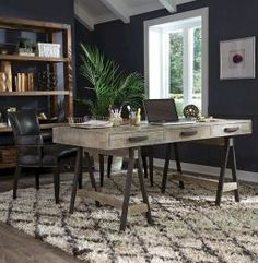 45 amazing rustic home office furniture ideas (14)