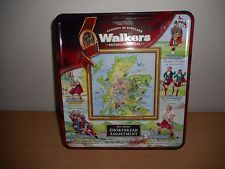 WALKERS ASSORTED SHORTBREAD  BISCUIT TIN '' HIGHLAND GAMES '' USE BY 30/01/2014
