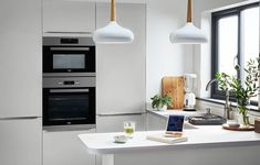 B_DIY_Fitted_Kitchens_Balsamita_Matt_Grey_Slab_NEW - B&Q for all your home and garden supplies and advice on all the latest DIY trends B&q Kitchens, Fitted Kitchens, L Shaped Kitchen, Base Cabinets, Kitchen Essentials, Diy Kitchen, Home And Garden, Grey, Home Decor
