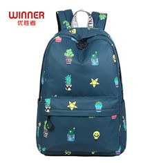 328d62d943a4 Find More Backpacks Information about WINNER Daily Women Backpack For School  Teenager Girls Flowers Printing Travel