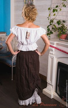 Купить Юбка льняная БОХО - темно-серый, блузка, юбка, бохо, стильно, лён 100%