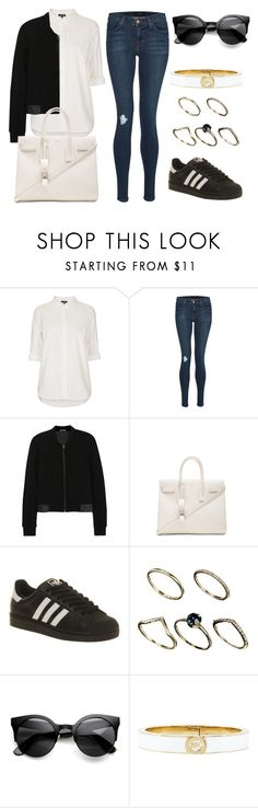 """""""Untitled #127"""" by beautstakingovertheworld ❤ liked on Polyvore featuring Topshop, J Brand, T By Alexander Wang, Yves Saint Laurent, adidas, ASOS and Michael Kors"""