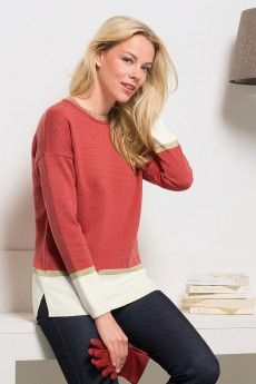 Le pull cashwool rayures lurex