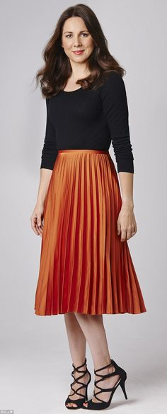 TOPSHOP Satin Pleated Midi Skirt ($84) ❤ liked on Polyvore ...