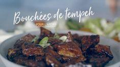 Bouchées de tempeh pour l'apéro Tempeh, Seitan, Pot Luck, Quebec, Hors D'oeuvres, Edamame, Hamburger, Vegan Recipes, Appetizers