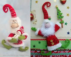 036 Santa Claus, Father Frost, Father Christmas Crochet Pattern. Amigurumi PDF by Borisenko Etsy by littleowlshut. Explore more products on http://littleowlshut.etsy.com