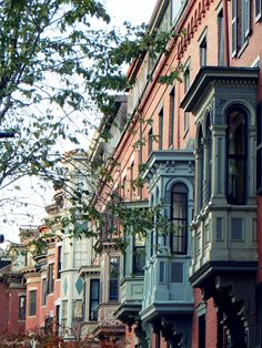Victorian era houses in Union Park, South End Boston