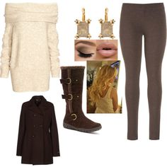 Winter Wonderland by sarabray on Polyvore featuring polyvore fashion style H&M G.SEL maurices Bucco Elizabeth Cole