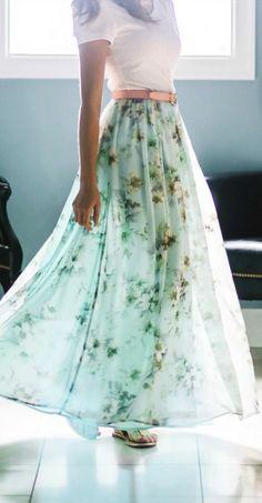 0f58eaec53 Chiffon Maxi Modest Skirts, Modest Outfits, Chiffon Maxi, I Dress, Type 3