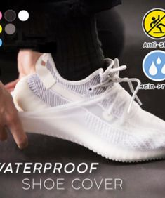 Adults Waterproof Thicken Latex Dust-proof Raining Hiking Elastic Shoes Cover