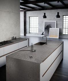 Formidable Urban Loft Kitchen Maintains Historic Indentity - Home Design Industrial Style Kitchen, Loft Kitchen, Kitchen And Bath, Rustic Industrial, Home Design, Küchen Design, Interior Design, Design Trends, Urban Loft