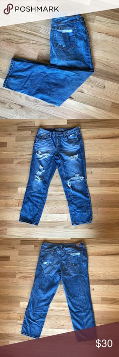 American Eagle Boyfriend Jeans Worn a few times, no flaws American Eagle Outfitters Pants