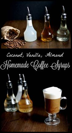 Drink recipes 262405115775989543 - Homemade flavored coffee syrups are a healthier and easy way to jazz up your coffee without the added sugar! Vanilla, Almond and Coconut syrup recipes. Source by darielacruz Vanilla Syrup For Coffee, Coffee Syrups, Coffee Enema, Coffee Coffee, Coffee Shop, Coffee Break, Coffee Lovers, Sugar Free Coffee Syrup, Folgers Coffee