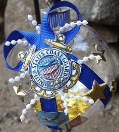 US Coast Guard Christmas Ornament Double by BeautifulBalls