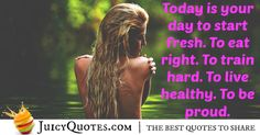 Here are motivational fitness quotes and sayings. These picture quotes will inspire you to workout more and get in shape. Fitness Motivation Quotes, Eat Right, Train Hard, Get In Shape, Picture Quotes, Best Quotes, Healthy Living, Sayings, Getting Fit