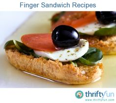 This page contains finger sandwich recipes. When planning the food for a party, finger sandwiches are a nice addition to the menu.