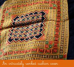 Embroidery from Kutch.