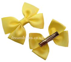www.dreambows.co.uk Yellow grosgrain ribbon hair bows on alligator clips/slides #yellowbows #love #yellow #summer #girlssummerfashion #summerfashion #bows #yellowbows #hairclips #hairslides #girls #cute #fashion #cutefashion #lovefashion #stylebows #bows #hairclips #hairslides