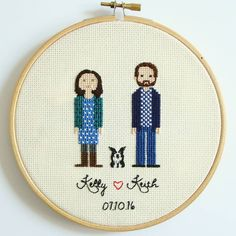 I haven't posted in ages! We're enjoying having my parents over from Argentina and finally having summer weather this past week. So we were having fun at the pool and the beach. I am taking a break from stitching and just getting carried away through these days not worrying much about anything.  This couple already married and this was one of their gifts