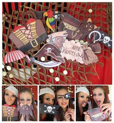 pirates photo booth props arrrrrrr perfect for a pirate party or a pirates of the caribbean bash from The Party Event Pirate Birthday, Pirate Theme, Pirate Party, Pirate Wedding, Birthday Boys, Third Birthday, Photos Booth, Photo Booth Props, Pirate Photo Booth