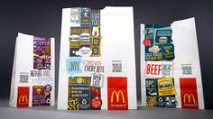 McDonald's is launching a new global packaging design that uses QR codes to give consumers nutritional information about their food.