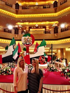 Emirates Palace hotel in Abu Dhabi & their National Day decor