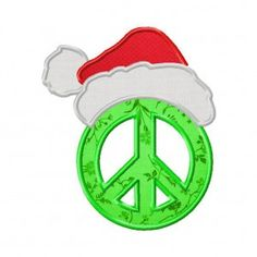 fbfb81220be Peace and Christmas Machine Embroidery Design Includes Both Applique and Fill  Stitch Embroidery Software