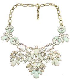www.DilworthRoad.com  Pink & Powder Blue Crystal Necklace