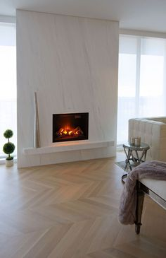 Image result for modern fireplace surround