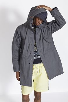 Mens designer clothes combining modern fits with old style construction. Universal work's passion is found in every characteristic piece Universal Works, Designer Clothes For Men, Your Style, Raincoat, Mens Fashion, Casual, Clothing, Jackets, Black