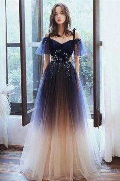 Princess Prom Dresses, Prom Girl Dresses, Pretty Prom Dresses, A Line Prom Dresses, Ball Dresses, Beautiful Dresses, Flapper Dresses, Elegant Prom Dresses, Girls Party Dress