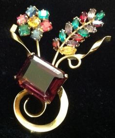 3 1/4 inch Very Large Vintage BROOCH PIN by Shabbysheikness, $75.00