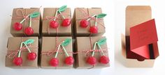 cherry favor boxes... too cute!