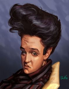 Jim Hopkins Studio Caricature of Elvis Presley