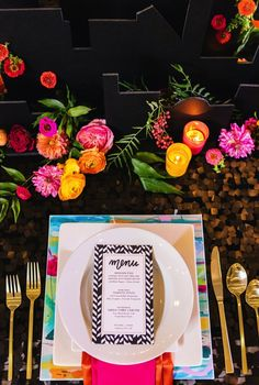 Gorgeous tablescape with pretty pops of color