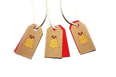 10 Christmas Tags | Bell Tags | Embroidered Tags | Unusual Tags | Mini Tags | Christmas Bells | Christmas Gift Tags | Christmas Packaging