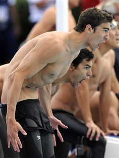 Michael Phelps and Ricky Berens. If I recall correctly, this was THE FAMOUS 2008 relay!!