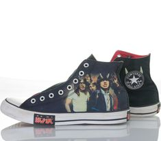 a1cd098bcea Converse Sneakers AC DC Chuck Taylor All Stars Highway To Hell 2009 Me –  itisvintage