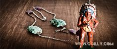Chief Wear Jewelry {Turquoise, Rubies, Sterling Silver& 1940's Metal Chief}   by cgilly.com