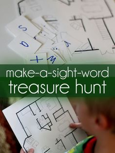 Set out on a hunt to make sight words. Make a treasure hunt using a floor plan with the letters hidden in the rooms that make sight words they're learning.