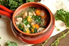 Slow Cooker (or Instant Pot) Sausage, Kale, and Sweet Potato Soup - Wholesomelicious