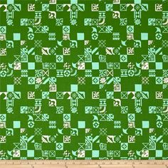 Cotton & Steel Clover Dance Floor Shamrock from @fabricdotcom  Designed by Alexia Marcelle Abegg for Cotton + Steel, this cotton print is perfect for quilting, apparel and home decor accents. Colors include blue, green and white.